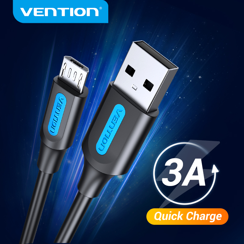 Vention Micro USB кабель 3A Быстрая зарядка USB кабель для передачи данных для Samsung S7 S6 Note Xiaomi Huawei HTC мобильный телефон USB зарядное устройство провод