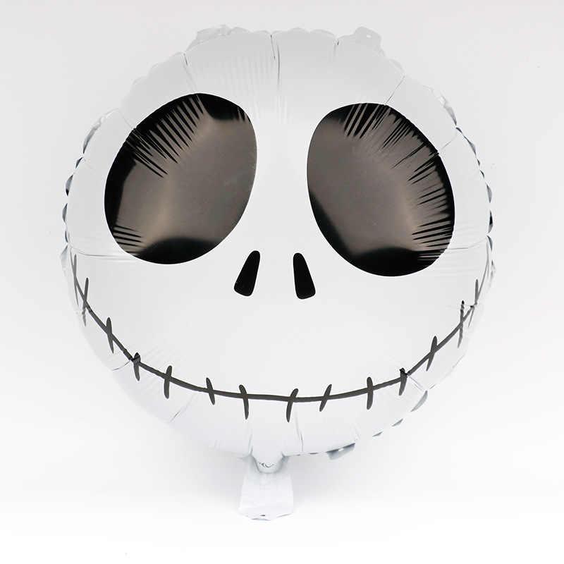 1pc 18 polegadas crânio expressão de alumínio filme balão de halloween mas feriado das crianças atmosfera layout decoração balão integral