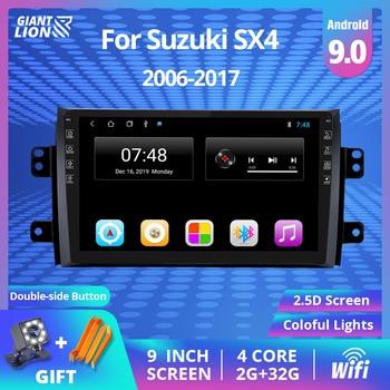 2DIN Android 9.0 Radio samochodowe multimedialny odtwarzacz wideo dla Suzuki SX4 2006-2011 2012 2017 nawigacja GPS 2 Din samochodowy odtwarzacz DVD odtwarzacz