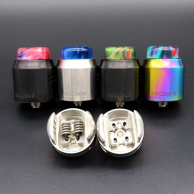Hongxingjia Vaporizer X Mike Vape RDA Metal Recurve Dual RDA Singal Coil Cotton Squonk Box Mod Electronic Cigarette Atomizer