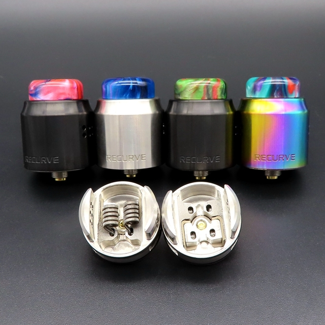 Hongxingjia vaporisateur X Mike Vape RDA métal Recurve double RDA Singal bobine coton Squonk boîte Mod électronique Cigarette atomiseur