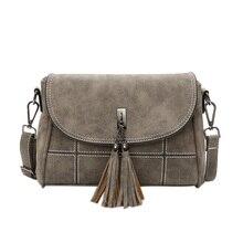 Women Handbags Tassel Crossbody Bags Ladies Pu Shoulder Bag