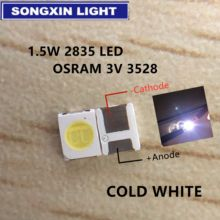 200 pces para osram led backlight led de alta potência 1.5w 3v 1210 3528 2835 131lm branco fresco backlight lcd para tv aplicação