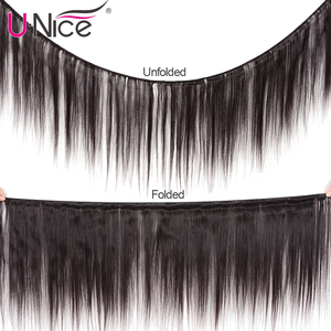 Image 2 - UNICE HAIR Malaysian Straight Hair Extension 8 30 Inch Natural Color Human Hair Bundles 100% Remy Hair Weave 1/3/4 Pieces