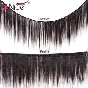 Image 2 - Unice cabelo malaio extensão do cabelo reto 8 30 Polegada cor natural feixes de cabelo humano 100% remy tecer cabelo 1/3/4 peças