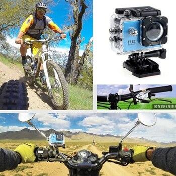 цена на Motorcycle Video camera Driving Recorder HD Waterproof Camera 2.0 Inch motorcycle helmet camera Extreme Sports DV Diving camera