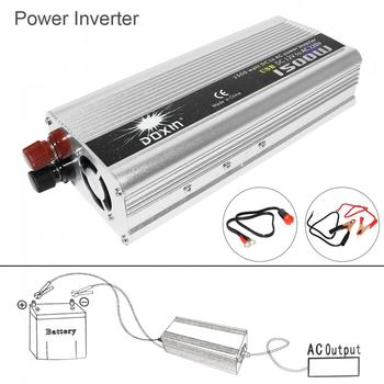 1500W DC 12V/24V to AC 220V 110V USB Portable Power Charger Converter Car Inverter for Electronic Products Sugar Power 3000W
