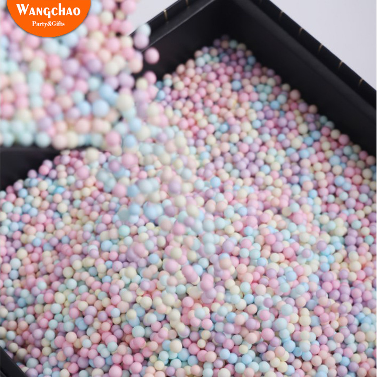 10 gr/beutel Bunte Schaum Ball Geschenk Box Füllstoff Candy Box Geschenk Verpackung Lieferungen Geburtstag Party Dekorationen Hochzeit Blume Box Füllstoff