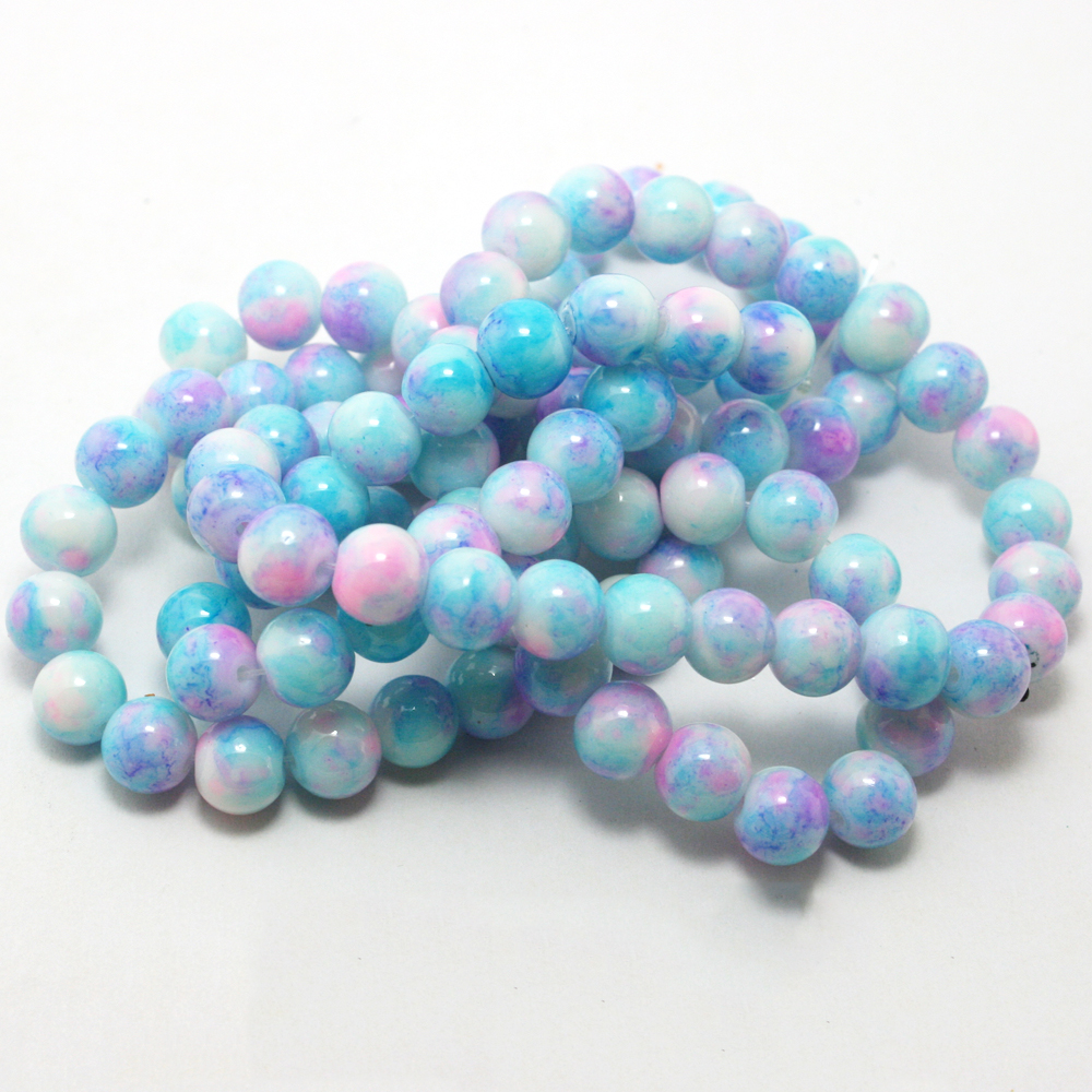 8mm Wholesale Cat Eye Colorful Round Stone Beads Kit For Jewelry Bracelet Making