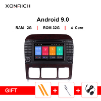 Xonrich 2 din Android 9.0 Car Multimedia Player GPS For Mercedes Benz S Class W220 W215 S280 S320 S350 S500 Radio DVD Navigation