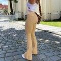 Женские джинсы, женские расклешенные джинсы с высокой талией, брюки цвета хаки, черные, коричневые, женские брюки, женская одежда, джинсы, же...
