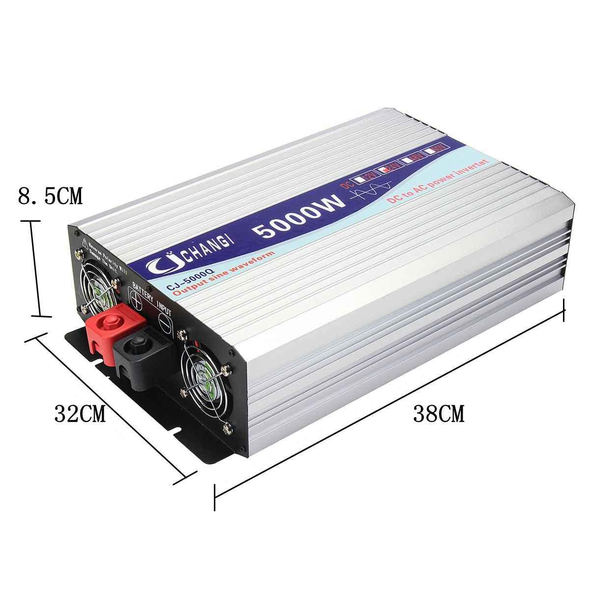 شاشة ذكية موجة جيبية نقية عاكس الطاقة 12 فولت/24 فولت إلى 220 فولت 3000 واط/4000 واط/5000 واط/6000 واط محول