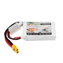 4PCS XF Power 11.1V 550mAh 3S 70C Lipo Battery XT30 Plug For Lizard95 PV Racing