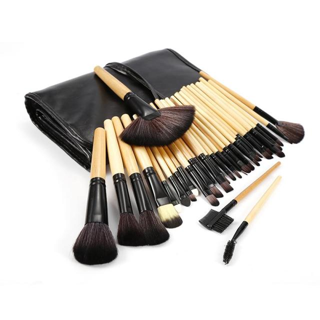 32 Pcs/lot Makeup Brushes Set For Foundation Powder Blush Eyeshadow Concealer Lip Eye Make Up Brush Pink Cosmetics Tools TSLM1 2