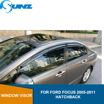 Side Window Deflectors For FORD FOCUS 2005 -2011 HATCHBACK Winodow Visor Vent Shades Sun Rain Deflector Guard SUNZ