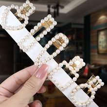 Woman Elegant Geometric Pearl Hairpins Korean Style Hair Clips Sweet Hot Beauty Pins Accessories