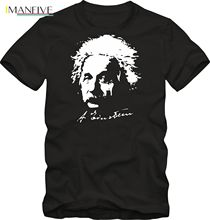 2019 Newest Fashion T-Shirt Albert Einstein Shirt Funshirt Viele Farben O-Neck T