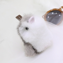 цена Q version of small penguin imported mink hair small penguin fur pendant bag fur accessories key chain онлайн в 2017 году