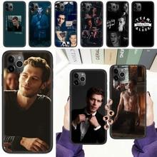 Klaus mikaelson o vampiro diários capa de telefone casco para iphone 5 5S se 2 6s 7 8 12 mini plus x xs xr 11 pro max preto