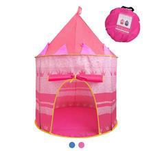 Портативный Складной Замок принцессы из тюля для детей, Игровая палатка для детей, креативный развивающий игровой домик для улицы и дома