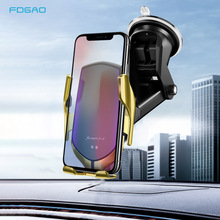 Qi Wireless Car Charger Automatic Clamping Phone Holder 10W Fast Charger Stand For iPhone 11 X XS XR 8 Samsung S10 S9 Note 10