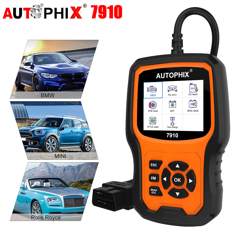 Autophix 7910 For BMW OBD2 Automotive Scanner SRS SAS ABS EPB Oil Reset For BMW OBD2 Scanner For Rolls Royce OBD Diagnostic Tool-in Engine Analyzer from Automobiles & Motorcycles on