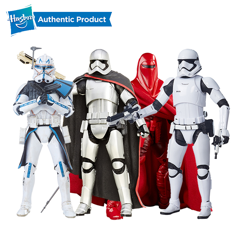 Hasbro Star Wars The Black Series 6-Inch First Order Stormtrooper Captain Phasma Royal Guard Rey Dj Canto Bight Starwars Toys