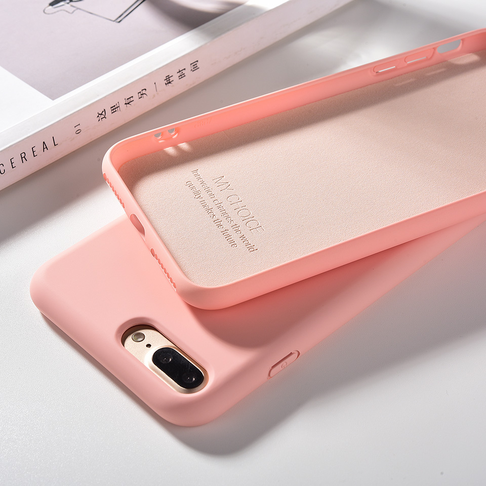 Liquid Silicone Soft Case For iPhone 11 Pro Max 7 8 6 s 6s Plus 7plus 8plus Candy Color Coque Capa Cover For iPhone X XR Xs Max
