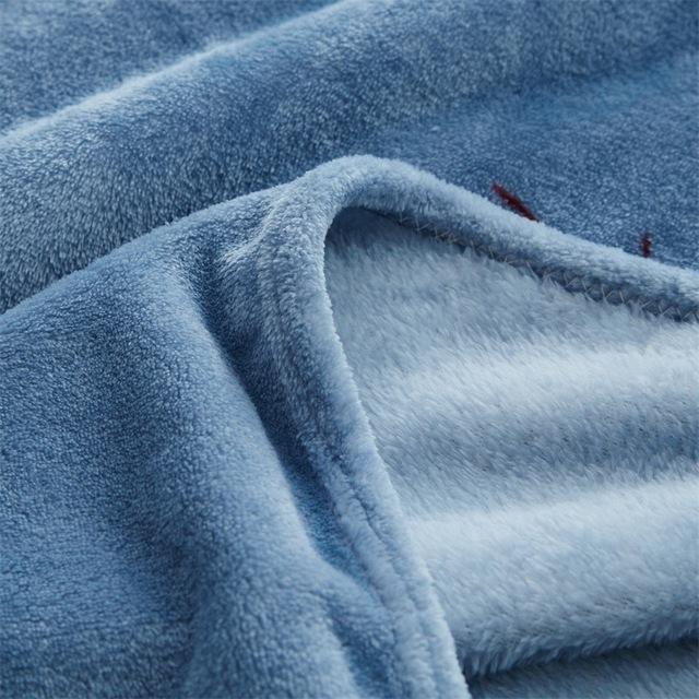 Bedroom accessories Woollen blanket blanketry Bedclothes Bed Blanket Solid Super Soft Air-conditioned pet quilt comfortable New