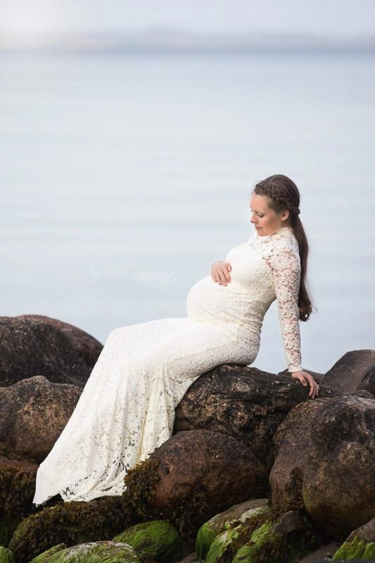 Baby Shower Lace Maternity Dresses For Photo Shoot Long Fancy Pregnancy Dress Elegence Pregnant Women Maxi Gown Photography Prop (4)