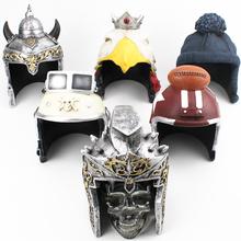 Butelka w kształcie czaszki Viking kask Roman Gladiator kask łysy orzeł kask czapka z dzianiny pilot kask kask do futbolu amerykańskiego kryształowa opaska na głowę tanie tanio CN (pochodzenie) Metal BM064 Zestaw Skull Bottle Crystal Head Crystal Head Vodka Roman knight Helmet Skull with Viking Helmet