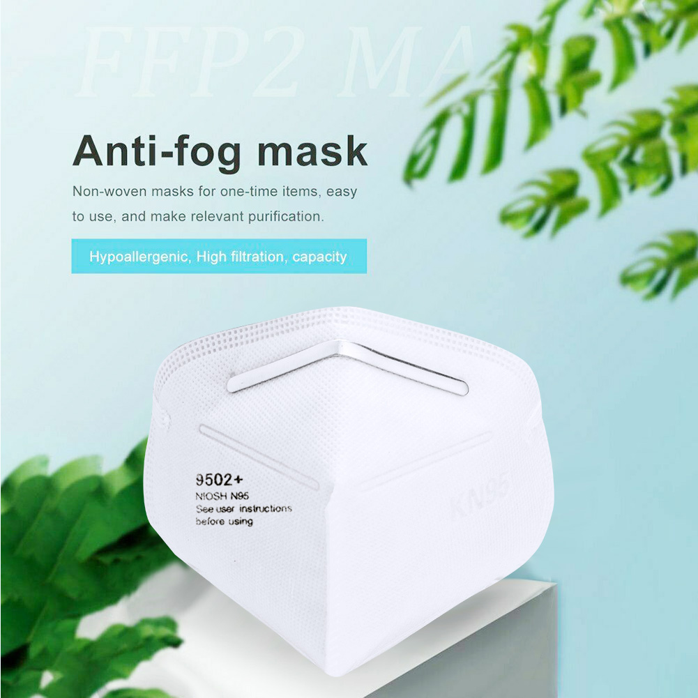 1/10/20/40/50/100Pcs Kn95 마스크 Adult Folding Face Mask Non-woven Dust-proof Health Mouth Cover Personal Care Supplies