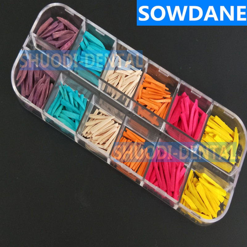 300 Pcs(50 pcs/type) Dental Tooth Seperator Materials Disposable Supply Interdental Composite Contoured Wooden Wedges