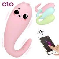 OLO Silicone monstre Pub vibrateur APP Bluetooth télécommande sans fil g-spot Massage 8 fréquence adulte jeu jouets sexuels pour les femmes