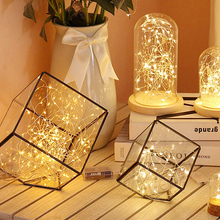 2M 20LED Christmas String Lights Copper Wire Battery Box Warm White Light for Holiday Christmas New Year Party Room Curtain Deco