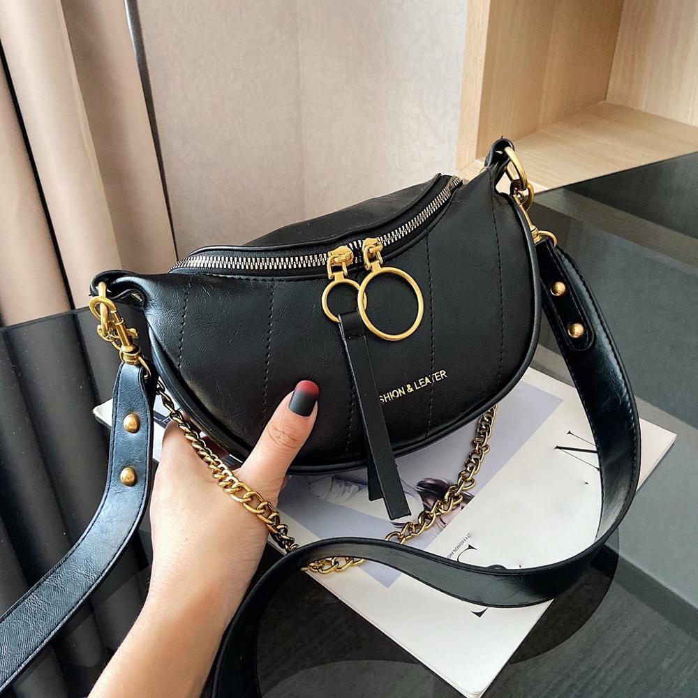 2019 Fashion Women Crossbody Bag Leather Handbags Leather PU Shoulder Bag Chain Crossbody Bags For Women Messenger Bags #15