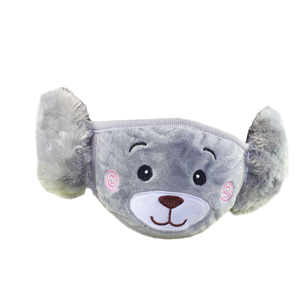 Cute Bear Ear Protective Kids Mouth Mask Windproof Mouth-Muffle Anti Dust Winter Masks Children Anti Haze Flu Cotton Face Masks