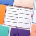 Capa dura de couro clássico escola escritório papelaria notebooks planejador mensal semanal organizador planejador agenda estudante fino
