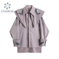Frauen Vintage Casual Elegante Tops Frauen Shirts Koreanische Stil Plus Peter Pan Kragen Süße Langarm Alle-Spiel Stilvolle blusen
