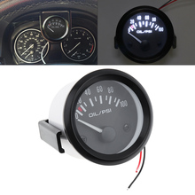 New 52mm Universal Auto Car Oil Pressure Gauge 2inch 0-100 Psi Press Meter LED