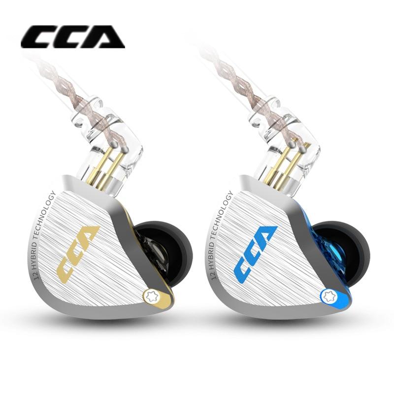 Image 2 - New CCA C12 5BA+1DD Hybrid Metal Headset HIFI Bass Earbuds In Ear Monitor Headphones Noise Cancelling Earphones C10 C16 ZSX A10-in Phone Earphones & Headphones from Consumer Electronics