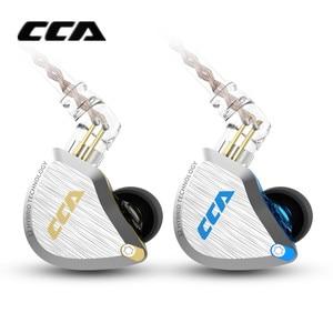 Image 2 - New CCA C12 5BA+1DD Hybrid Metal Headset HIFI Bass Earbuds In Ear Monitor Headphones Noise Cancelling Earphones C10 C16 ZSX A10