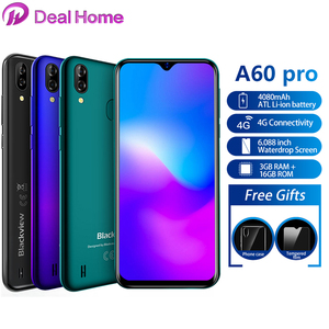 """Image 1 - Blackview A60 Pro 6.088"""" Waterdrop Screen Mobile Phone Android 9.0 4080mAh MTK6761 Dual Rears Cameras 4G Cellphone"""