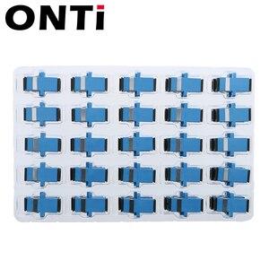 Image 3 - ONTi 200 шт. волоконно оптический соединитель Адаптер SC / UPC SM фланец одномодовый Simplex SC SC APC Муфта Бесплатная доставка Оптовая продажа