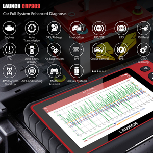Image 3 - Launch escáner X431 CRP909 OBD2, reinicio de aceite IMMO SAS DPF TPMS, Sistema completo OBD, lector de código PK MK808 Launch X431 ODB2