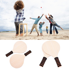 Racquet Cricket Wooden Paddle-Set Beach for Outdoor Play Leisure-Body-Training-Gift