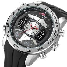 KAT-WACH moda męski zegarek wojskowy 50 metrów wodoodporny zegarek LED zegarek kwarcowy zegarek sportowy męski Relogios męski zegarek tanie tanio 26cm Moda casual QUARTZ 5Bar Klamra Stop 17mm Hardlex Kwarcowe Zegarki Na Rękę Papier Silikon 51mm kT-714 26mm ROUND