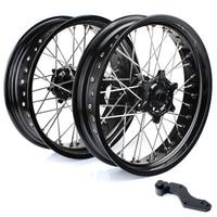 BIKINGBOY 3.5 5.0 17 Front Rear Supermoto Wheel Rim Hub Bracket for KTM SX MXC XC GS SXS EXC XCW EXCF SXSF XCG 125 540 HUSABERG