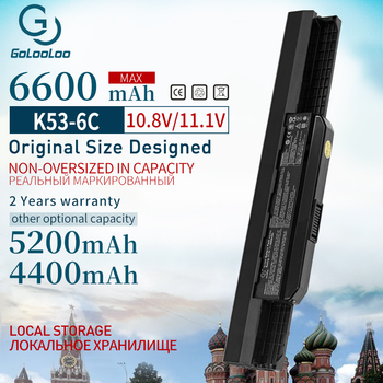 Golooloo 6 Cells Laptop Battery For Asus K53S K53 K53E K43E K53 K53T K43S X43E X43S X43E K43T K43U A53E A53S K53S Battery 11.1v n 042 2 5mm dc power jack for asus k53 k53s k53e k53s k53sv a53z a53s k53sj k53sk laptop dc connector port socket connector