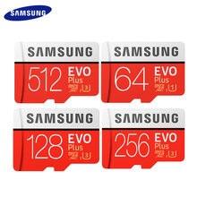SAMSUNG-tarjeta Micro SD EVO Plus Original, 512GB, 256GB, 128GB, 64GB, tarjeta de memoria Flash de hasta 95 MB/s, con adaptador de tarjeta TF